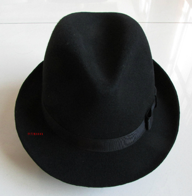4b9a9d4450f Wool hat Fashion Unisex Wide Brim Jazz Cap Spring Cotton Wool Fedora Hats  For Men Vintage