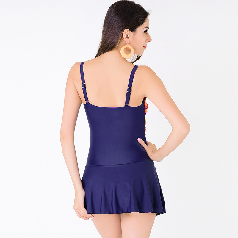 Yichaoyiliang Sexy Push Up One Piece Swimsuit Plus Size 4XL Women Beach High Waist Swimwear Ruffle Swimsuit Junior Girls Tankini