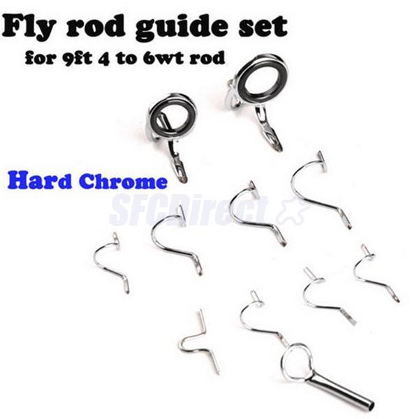 Fly Rod Guide Set Gebäudeverpackung 9FT 4 6WT Hard Snake Guide Tip Hook