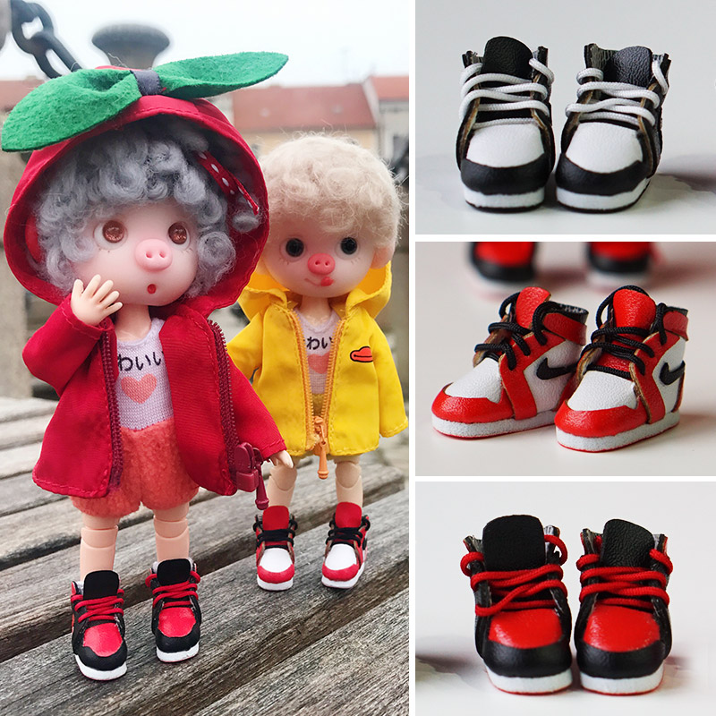 1 Pairs OB11 Dolls Sneakers Shoes Middle Blyth Sport Shoes Accessores ( Fit Ob11,obitsu11,1/12 Bjd,Holala,Middle Blyth Doll)