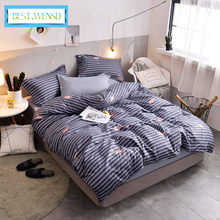 BEST.WENSD dekbedovertrek' bedcover set comfortable Bedding Queen king Size 3/4pcs bedclothes Jacquard Duvet Cover set Bedspread(China)