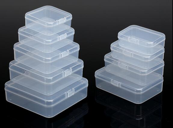 20pcs Lot Transpa Plastic Small Square Bo Packaging Storage Box With Lid For Jewelry Accessories Finishing
