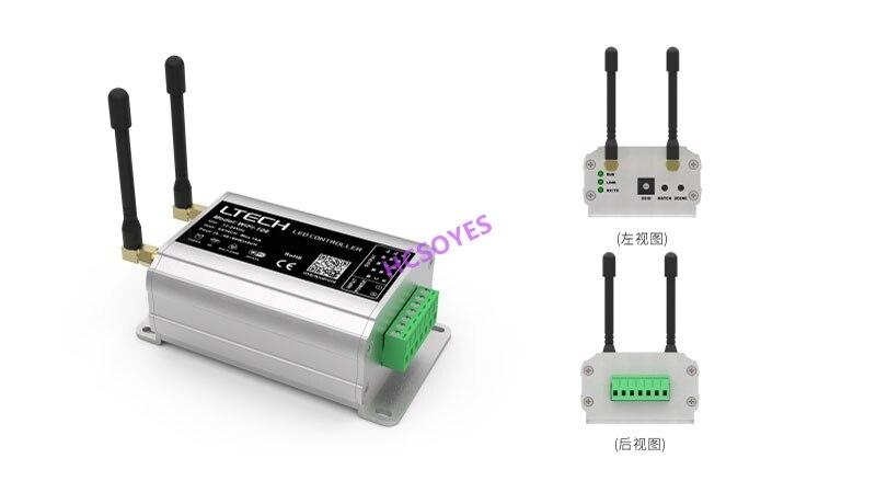 Contrôleur WiFi LTECH WiFi-106 + F12 LED; DC12-24V 4A * 4CH Max 16A 2.4 GHz système de contrôle WiFi couleur unique/CT/CCT/RGB/RGBW LED bande