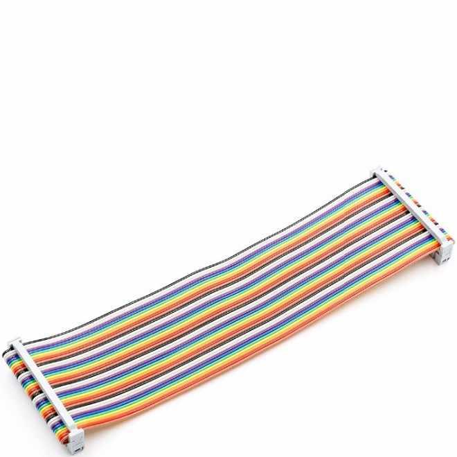 20 cm 40 PIN Way GPIO Gökkuşağı Şerit Kablo Ahududu Pi Modeli B/Model B + Konnektör