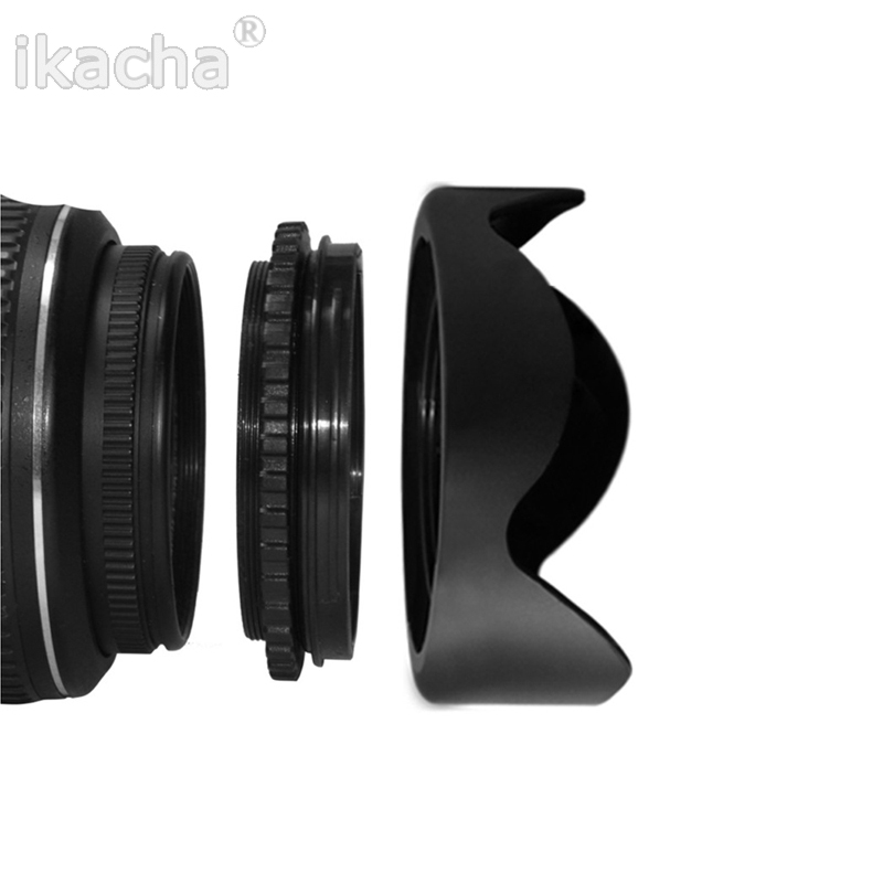 Reversible Petal Flower Lens Hood 49 52 55 <font><b>58</b></font> 62 67 72 77 82mm for Canon Nikon Sony Pentax DSIR Camera image