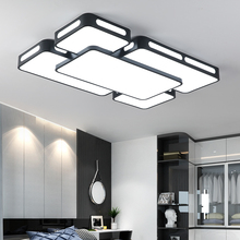 купить Black/White iron LED chandelier ceiling for living room lights bedroom plafonnier led lamp modern chandelier lighting Fixtures дешево