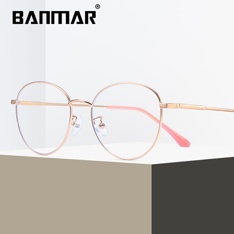 BANMAR Blue Light Blocking Glasses Unisex Round Computer Reading Glasses Readers Anti Glare Eyeglasses Blue Ray Glasses A1918 in Women 39 s Blue Light Blocking Glasses from Apparel Accessories