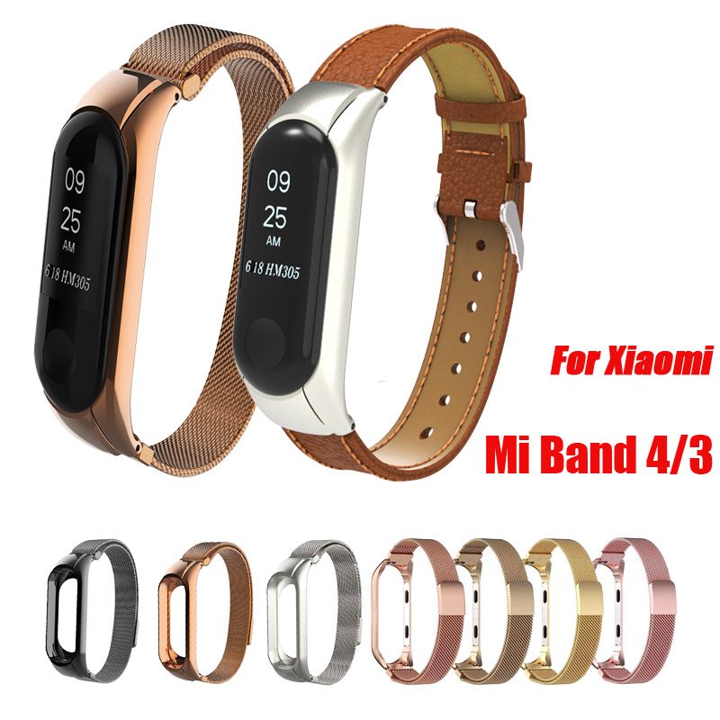 Replacement Strap For Xiaomi Mi Band 4 Metal Replacement Straps Smart Accessories Pedometer Watch Band Bracelet For Mi Band4