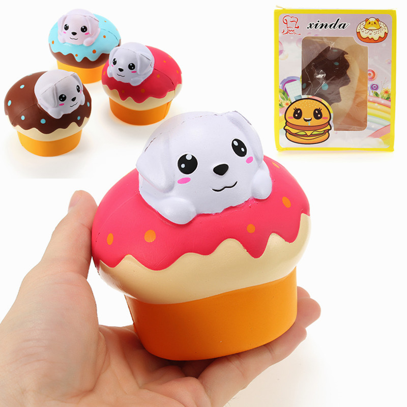 Best Deal Xinda Soft Dog Puppy Puff Cake 10cm Slow Rising With Packaging Collection Gift Soft Toy Phone Straps Best Gift