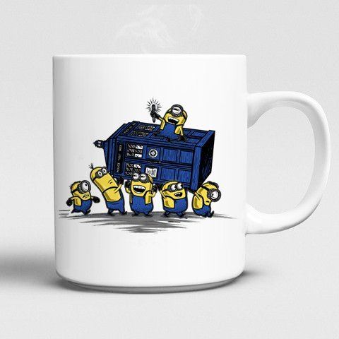 Minions mugs Despicable Me mugs Doctor Who mug Dr Who mug Tardis white cups ceramic coffee cafe home decal kid cups child mugen