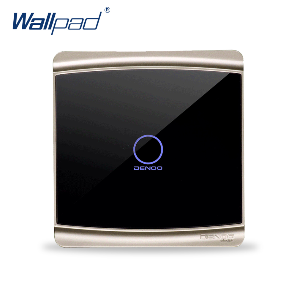 1 Gang 1 Way Wall Touch Switch Wallpad Luxury Crystal Glass Panel Wall Touch Light Interrupteur Backlight LED Indicator smart home us au wall touch switch white crystal glass panel 1 gang 1 way power light wall touch switch used for led waterproof