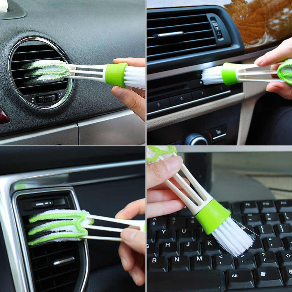 Car-styling tools cleaning Accessories Car Air Conditioner Vent Slit Cleaner Brush Instrumentation Dusting Blinds Cleaning Brush