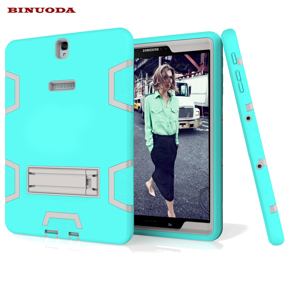 New For Fundas Samsung Galaxy Tab S3 9.7 SM-T825 T820 Case Hybrid Rugged Hard Plastic+Silicone High Impact Shockproof Case Cover аксессуар чехол samsung galaxy tab a 7 sm t285 sm t280 it baggage мультистенд black itssgta74 1