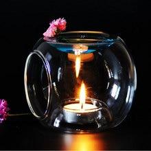Quemador de Aceite De Aroma de Perfume de cristal Candelita Titular de La Vela de Cera Tarta Caliente