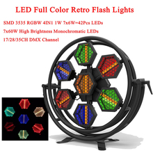 New Stage Effect Lighting 500W LED Full Color Retro Flash Lights RGBW 4IN1 Flashing Dance Club Party DJ