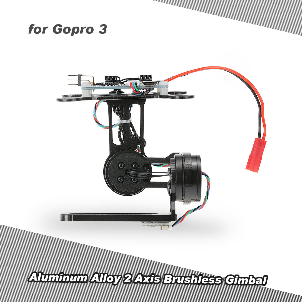 2 Axis Brushless Gimbal with BGC2.2 Control Panel for Gopro3 / Gopro4 FPV Accessory F450 F550  CX-20 Aerial Photography hj5208 75t brushless gimbal motor for 5d2 camera fpv aerial photography black