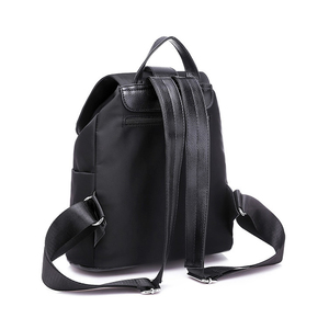 Image 3 - New 2019 Nylon Women Backpack Female Fashion Travel Waterproof Patchwork Leather Bag Black School Backpacks Teenager For Girls