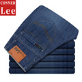 CONNER LEE jeans hombres de Alta calidad pantalones vaqueros rectos de los hombres de la marca famosa pantalones de algodón masculina moda jean pantalones vaqueros hombr boy