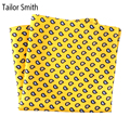 Tailor Smith Pure Natural Silk Printed Mens Luxury Designer Hanky Gold Paisley Pocket Square New Fashion Fancy Handkerchief