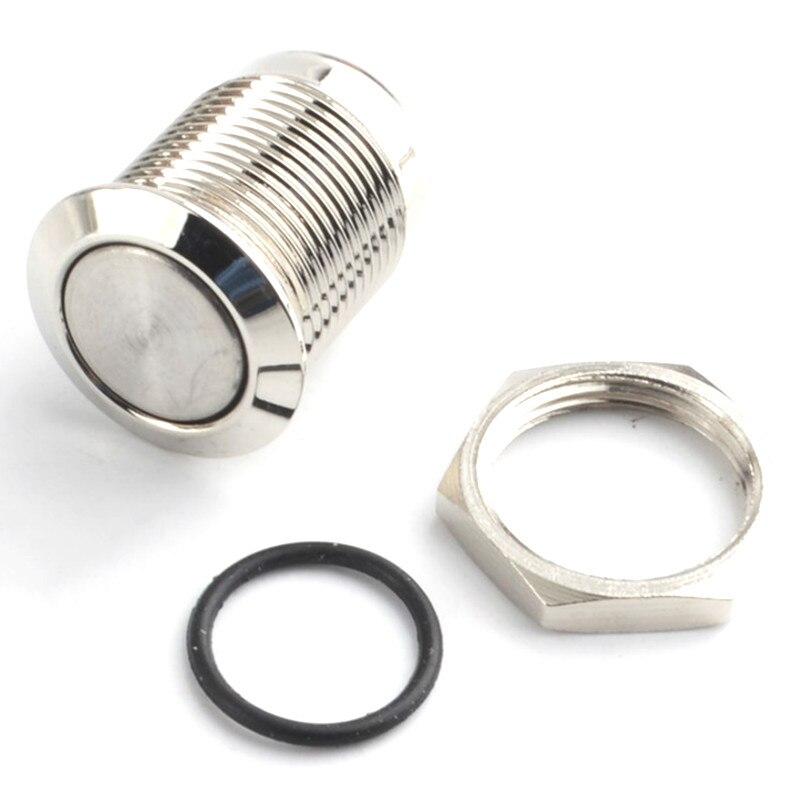 1 шт. 12 мм водонепроницаемый мгновенный круглый металлический кнопочный переключатель из нержавеющей стали Автомобильный Запуск рога звонок сброс плоской головкой и Высокой Головкой