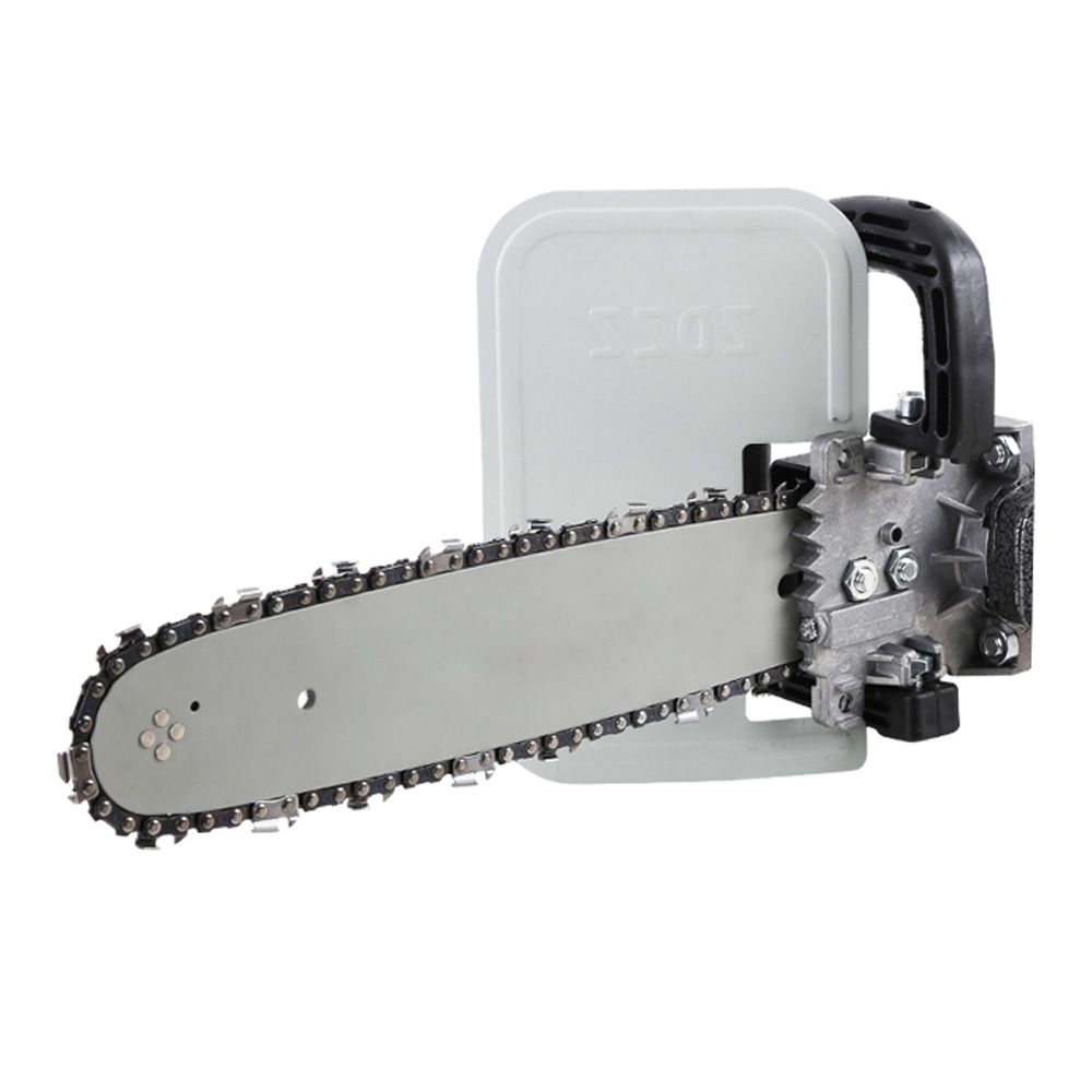 """Multifunction DIY Electric Chain Saw Converter for 100mm 4"""" Electric Angle Grinder Chainsaw Bracket Woodworking power tools"""