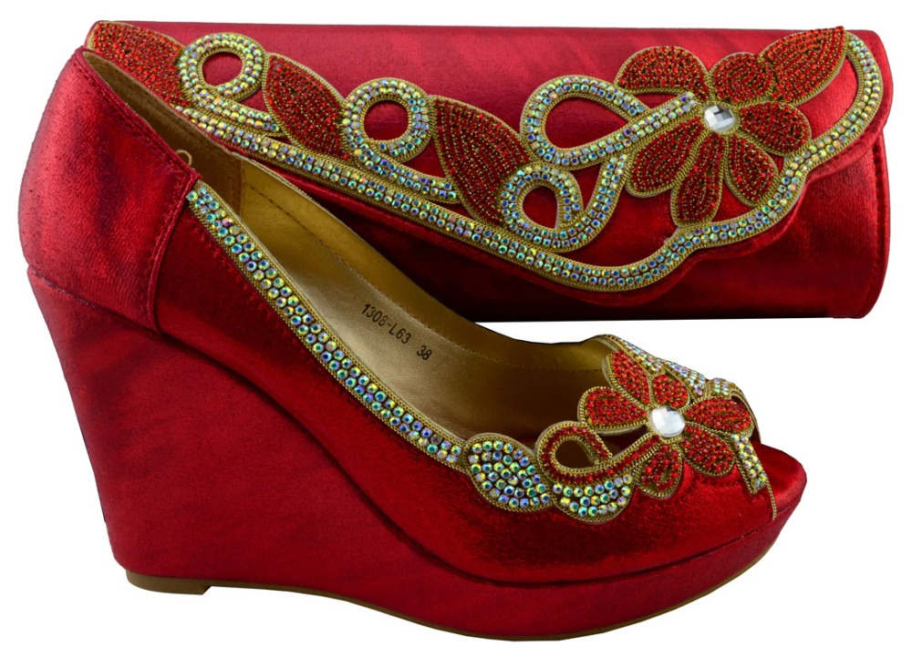 ab60da1e azul Rhinestone plata Astilla Africanas Coincidir Italianas Con Nueva rojo  Para Zapatos oro Mujeres Llegada Bolsas ...