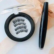 Magnetic Eyelashes Handmade Magnets False Eyelashes 3D Silk lashes Natural Lengthening Makeup Lashes Upper Lashes With Gift Box lengthening false eyelashes with glue