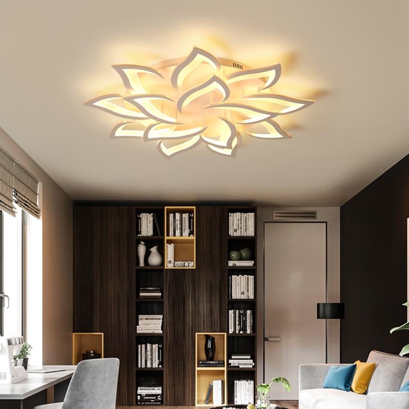 Modern LED Acrylic Ceiling Lighting Remote Control Flush Mount Light LED Lighting Fixture for Living Dining Room Decoration