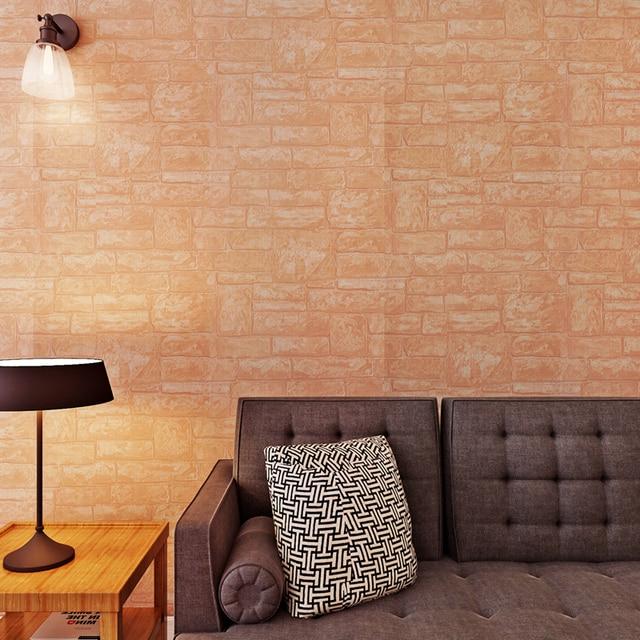 Papel De Parede 3d Embossed Brick Wallpapers Warm Color Home Decor