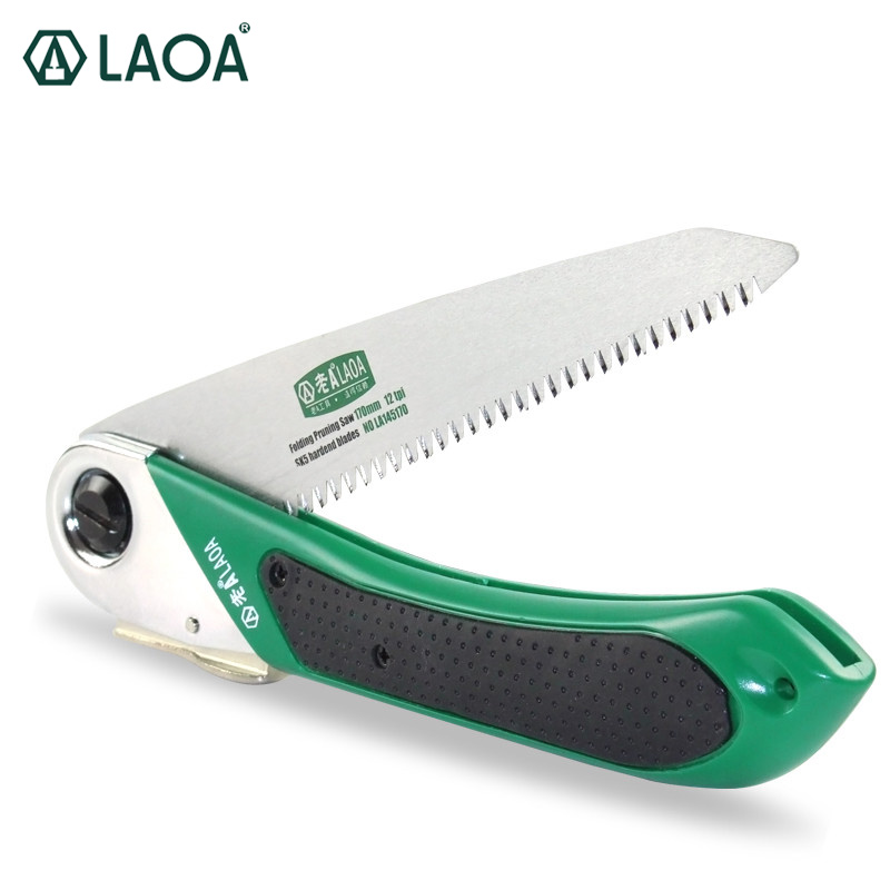 LAOA Free Shipping SK5 Alloy Steel Portable Folding Saw With Plastic Case For Pruning And Gardening