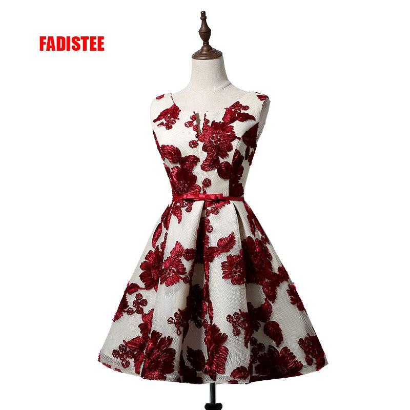 FADISTEE 2017 New arrival cocktail party Dresses short Vestido de Festa mini sexy lace style dress