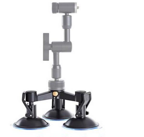 Triple Mount Suction Cup Base for OSMO Handheld 4K Camera and 3-Axis Gimbal