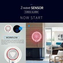 SmartYIBA Z-wave 868 мГц Беспроводной Flash сирены тревоги Сенсор Совместимость с Z волна плюс Сенсор сигнализация домашней автоматизации сигнал тревоги