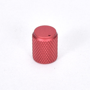 Image 4 - 5pcs Diameter: 12mm Height: 15mm Aluminum Knurled Volume Potentiometer Knob Black/Silver/Red/Gold