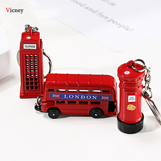London Red&Blue Bus Key organizer Mail Box Key Holder Key Pendant Keychain Souvenir Gifts For Men Key chain Key Ring keyring 1