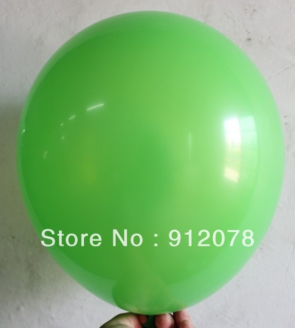 Whole Dark Green Color Latex Balloon Printed Helium Birthday Party Decoration