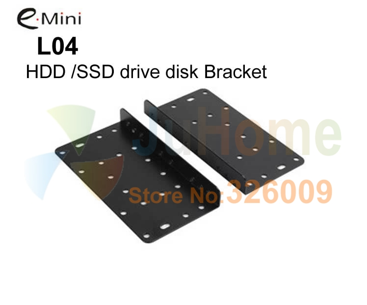 HDD brackets, SSD brackets for e-mini case D5 D5s D3, support 3.5 HDD, 2.5 HDD SSD, 1pair 2pcs