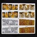 10 Листов Смешайте 4 Стили Сексуальная Leopard Тигр Печати Переброска воды DIY Nail Art Наклейки Надписи Ногтей Украшения Аксессуары