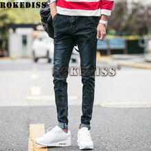 Black biker robin Jeans 2016 Winter The New Bell Bottom Men Tight Type Elasticity Feet Pencil pants Balmans casual Trousers C6