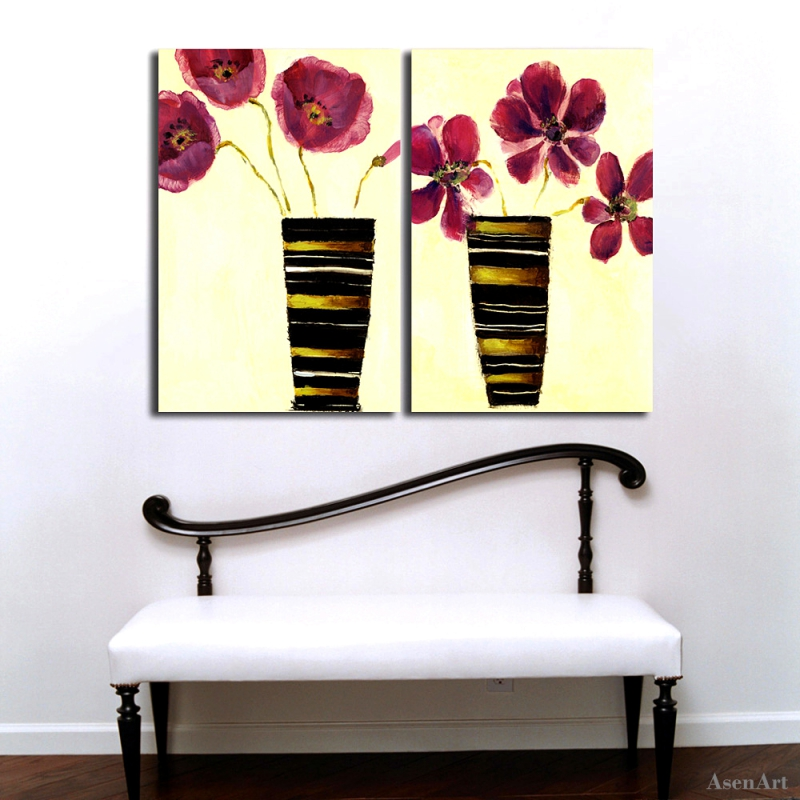 2 pcs Hand Painted Purple Flower Canvas Oil Paintings Abstract ... Abstract Flower Vase Painting on abstract oil painting, abstract heart art painting, abstract art paintings by famous artist, sunflower paintings vase, abstract ceramic vases, claude monet flower vase, abstract tulip paintings, pencil drawing still life flowers in a vase, abstract paintings of flowers, abstract art paintings flowers, folk art flower vase, abstract drawings of flowers,