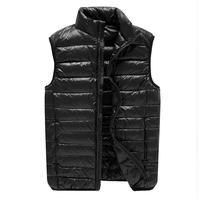8XL Duck Down Vest Men Ultra Light Double Sided Zipper Puff Gilet Casual Reversible Vests Jackets