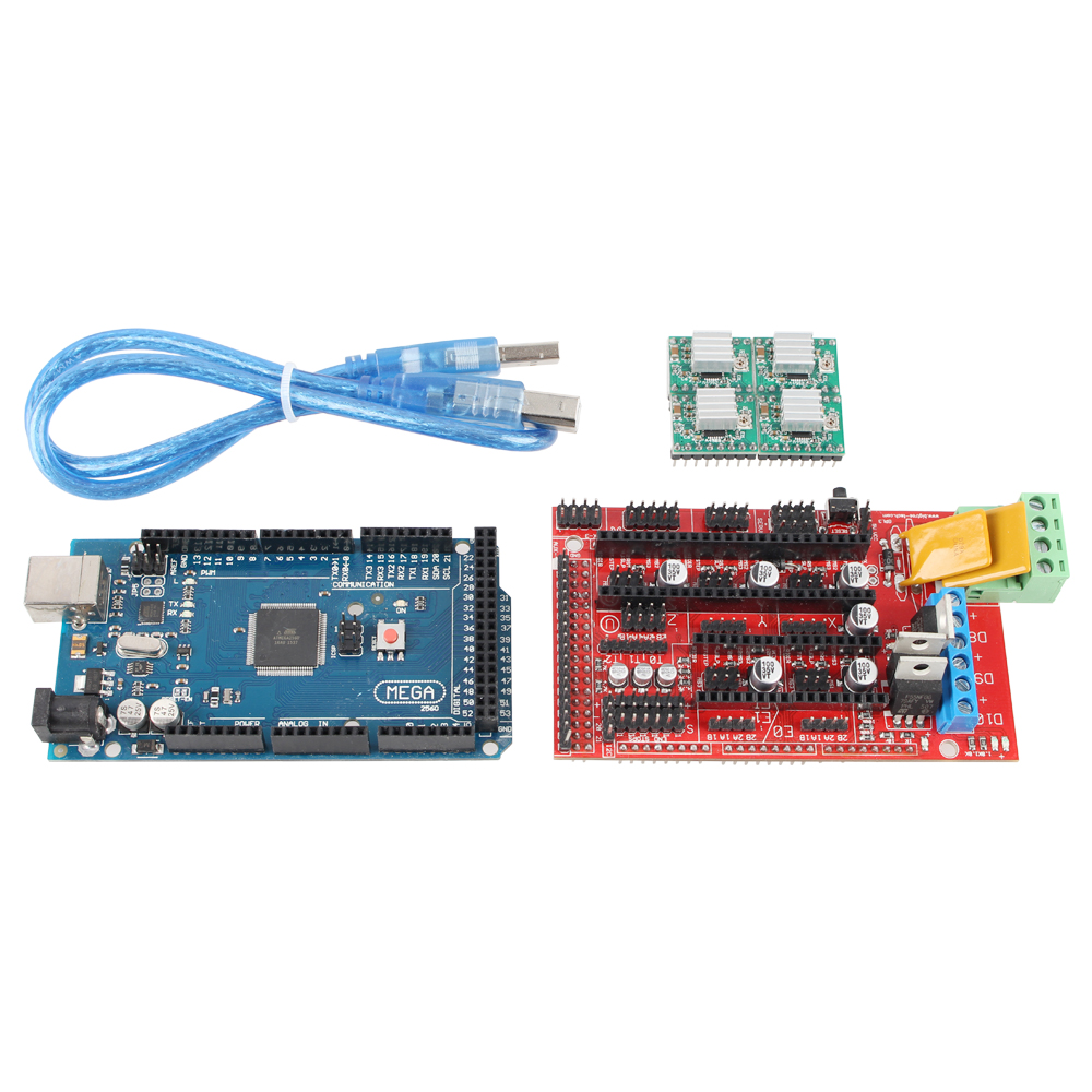 Mega 2560 R3 + 1pc RAMPS 1.4 Controller + 5pcs A4988 Stepper Driver Module RAMPS 1.4 KIT for 3D Printer kit MendelPrusa