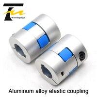 Liga de alumínio acoplamento elástico servo motor bola parafuso acoplamento cnc máquina torno estrela elástica tipo acoplamento comum|Acoplamentos de eixo|   -