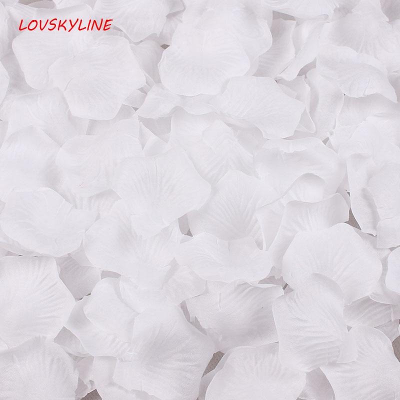 3000pcs White Silk Rose Artificial Petals Wedding Party Flower Favors Decor Wholesale Free Shipping