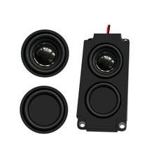 Haut parleurs Audio Portable1PC haut parleur TV 10045 LED 8 ohms 5W haut parleur dordinateur de basse à Double diaphragme bricolage pour Home cinéma