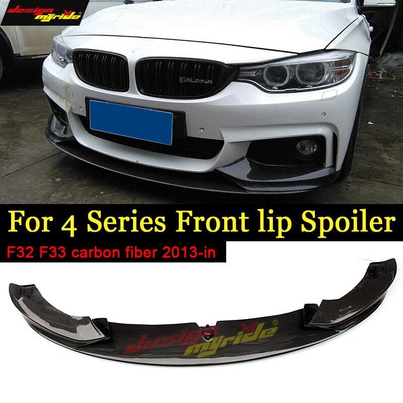 F32 F33 F36 Front Bumper Lip Spoiler Carbon Fiber for 420i 428d 435d 420d 440i M-tech M-Sport 2013+