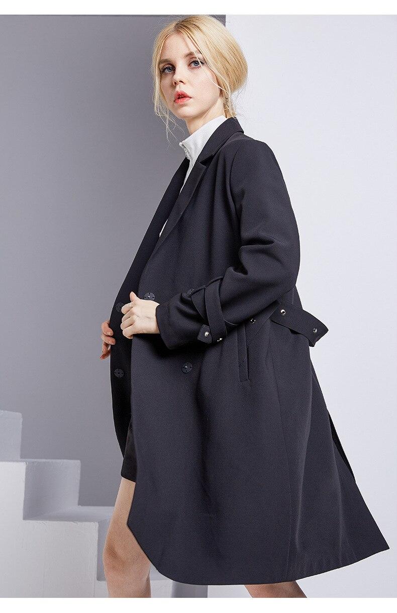 ca3732b4b7d5 2018 Tranchée Breasted Classique Vêtements Qualité Imperméable Affaires  Femme Couture Nouvelle Haute Manteau Automne Double De 85421 Marque 74q5wAw
