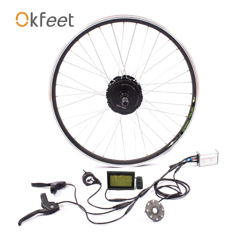 E vélo électrique vélos vélo moteur roue 36 V 350 W eBike Kit électrique vélo Kit de Conversion pour 26 pouces arrière moyeu moteur LED LCD