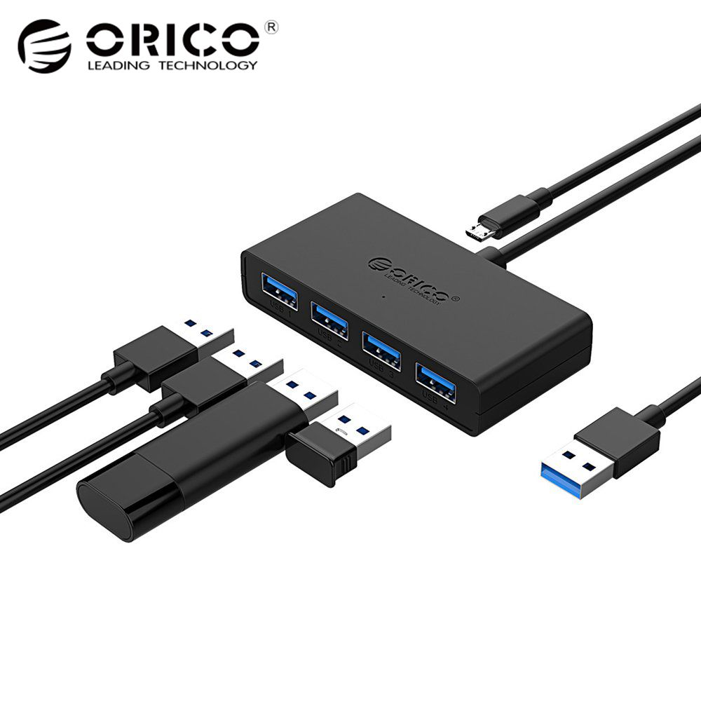 ORICO High Speed 4 Ports USB3.0 Hub USB Port USB Micro Port HUB Charging Hub USB Splitter for Apple Macbook Air Laptop PC Tablet orico m4u3 usb 3 0 4 port usb 3 0 hub laptop stand abs usb 3 0 hub
