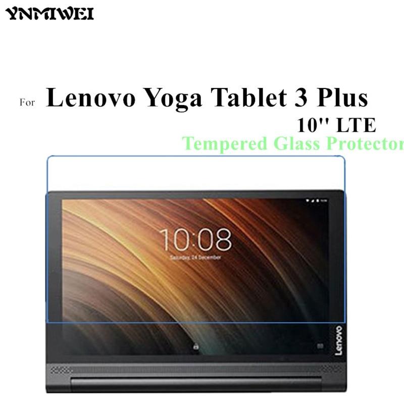 Yoga tablet 3 plus 10 protetor de vidro para lenovo yoga tab 3 plus 10 lte protetor de tela de vidro tab3 além de película protetora